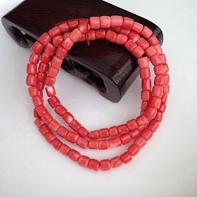 莫莫珊瑚桶珠108佛珠手串 完美全品