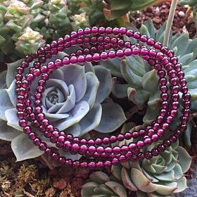凯斯羽珠宝紫牙乌石榴石手串项链巴西天然正品养颜支持淘宝包邮