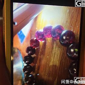 玫红偏紫12mm大石榴石手链