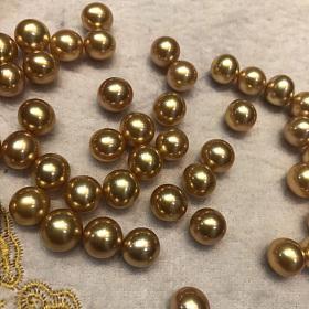 浓金天然色海水珠,大溪地孔雀绿珍珠