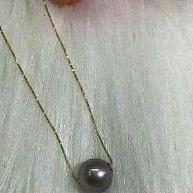 爱迪生紫色珍珠路路通吊坠