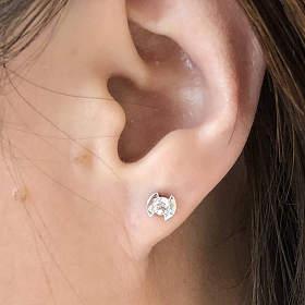 I Do钻石耳环一对