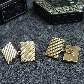 古董14k黄金法式衬衫袖扣袖链