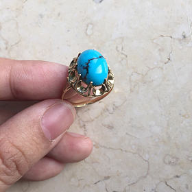 14K金松石戒指