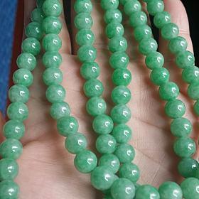 翡翠满绿108链子