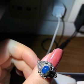 多米尼加蓝珀戒指活口