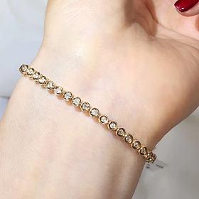 18k黄金钻石手链