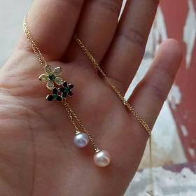 11.淡水珍珠s925银双色小香风项链