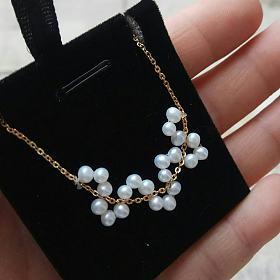 淡水珍珠手工小珠项链