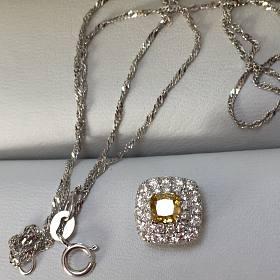 18k金黄钻围镶钻石