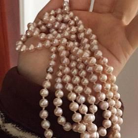 淡水天然珍珠毛衣链 天然珍珠毛衣链淡水珍珠项链大珠子