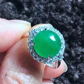 冰种绿蛋戒指