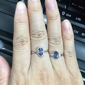 (新增证书图,闲鱼有美貌小视频)1000出头的18k真金真钻的蓝宝石戒指了解一下
