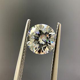 莫桑钻裸石戒面1-5ct可配对火彩超闪 最高级别 定制镶嵌戒指吊坠耳钉