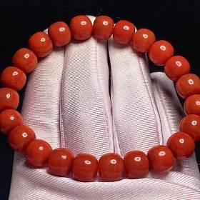 南红老型珠单圈手链
