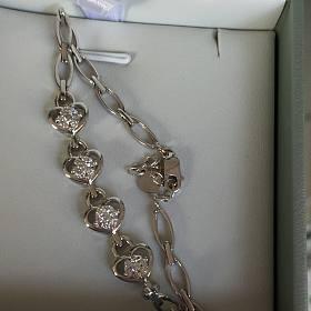 莱百18k金钻石手链