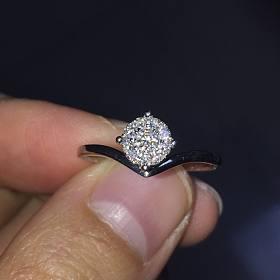 克徕帝18k金钻石戒指