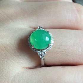 冰绿起光戒指