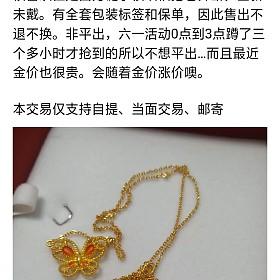 蝴蝶项链和花朵耳钉克价295出