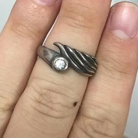翅膀造型 纯银戒指
