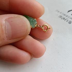 甜绿翡翠小貔貅挂件
