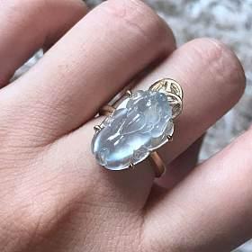 玻璃种貔貅戒指