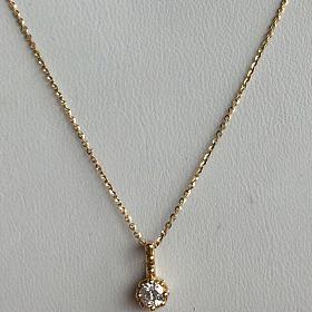 Fraisc珠宝|日本精工单钻18K钻石吊坠20分