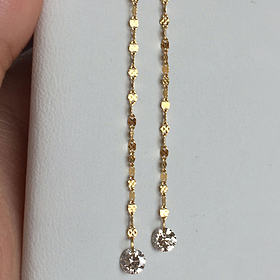 18k金36分钻石耳环