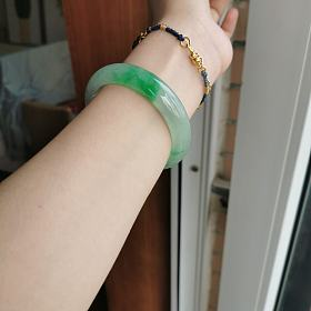佛系出镯子55.5 冰糯飘阳绿