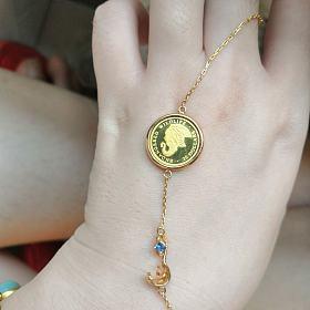 18K金金币手链