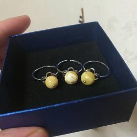 三个花蜡圆球戒指打包200包邮~