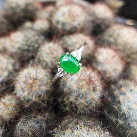 小清新阳绿戒指