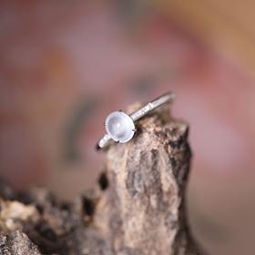 清东西回血天然18 k金钻镶嵌高冰种翡翠白冰戒指有证书
