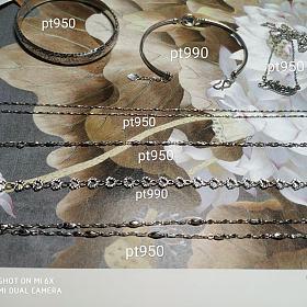 190克价出全新铂金 pt950 200出pt990 项链手镯手链
