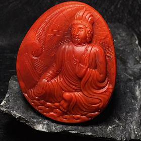 南红玛瑙摆件一念之间佛魔苏工吊坠蜜蜡手串星月菩提金刚凤眼配饰象神雕刻三通苹果珠
