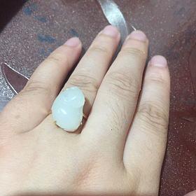籽料 小貔貅 戒指
