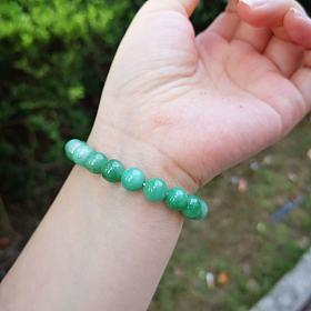 满绿翡翠珠珠串手链翡翠珠子手串