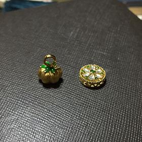 翡翠潘多拉系列18k金钻石翡翠转运珠小挂坠