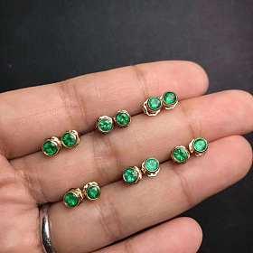 祖母绿耳钉,展会期(深圳展12-16号)特价999元一对,数量不多