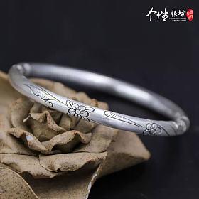 银镯翡翠手镯