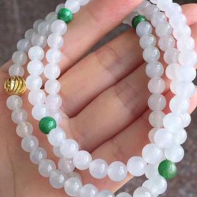 双彩圆珠项链