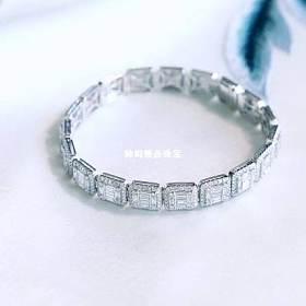 18K白金钻石手链