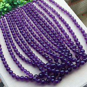 全新宝贝巴西乌拉圭紫水晶手链塔链收藏美货碧玺吊坠蜜蜡松石桶珠雕刻回纹手链项链珍珠