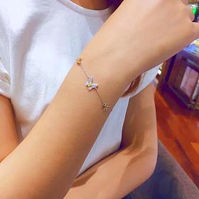 马眼黄钻钻石蝴蝶手链