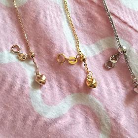 18k金项链,k白7克,55厘米,k黄和玫瑰金均不到3克,45厘米,k黄已出