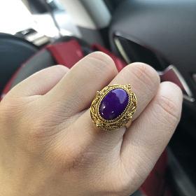 花丝镶嵌皇家紫舒俱来戒指