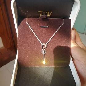 18k金周大福猫钻石套链,玫瑰金❤️套链,刻花卡镯