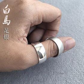 加宽凸面银戒指(亮面/雾面)