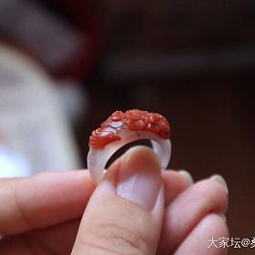 南红指环和碧玉指环