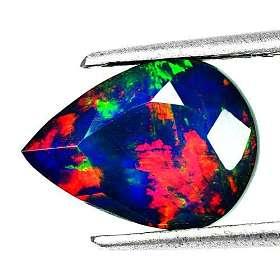 黑欧泊石 纯天然无任何处理欧珀 2.80克拉梨型
